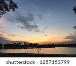 view of the sun set and sky... | Shutterstock . vector #1257153799