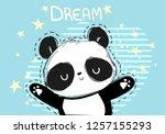 cute panda bear vector...   Shutterstock .eps vector #1257155293