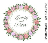 vector template for wedding... | Shutterstock .eps vector #1257157240