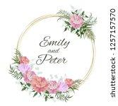 vector template for wedding... | Shutterstock .eps vector #1257157570