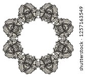 beautiful round flower mandala. ... | Shutterstock .eps vector #1257163549
