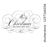 merry christmas and happy new... | Shutterstock .eps vector #1257166336