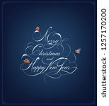 christmas greeting card. merry... | Shutterstock .eps vector #1257170200