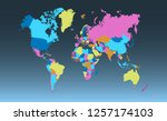 color world map vector | Shutterstock .eps vector #1257174103
