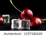 fresh ripe cherries for...   Shutterstock . vector #1257182620