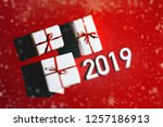 merry christmas and happy new... | Shutterstock . vector #1257186913