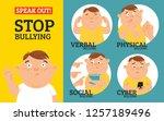 stop bullying in the school. 4...   Shutterstock .eps vector #1257189496