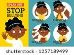 stop bullying in the school. 4...   Shutterstock .eps vector #1257189499