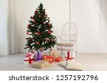 christmas home interior... | Shutterstock . vector #1257192796