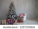 christmas home interior... | Shutterstock . vector #1257192826