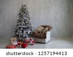 christmas home interior... | Shutterstock . vector #1257194413