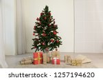 christmas home interior... | Shutterstock . vector #1257194620