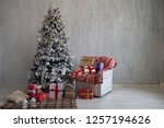 christmas home interior... | Shutterstock . vector #1257194626