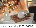 christmas decor in the house  | Shutterstock . vector #1257194803