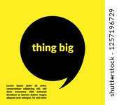 thing big sign label. thing big ... | Shutterstock .eps vector #1257196729