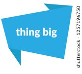 thing big sign label. thing big ... | Shutterstock .eps vector #1257196750