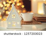 christmas decor in the house | Shutterstock . vector #1257203023