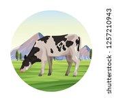 cow farm animal | Shutterstock .eps vector #1257210943