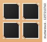photo frame mockup design.... | Shutterstock .eps vector #1257213763