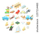 water carriage icons set....   Shutterstock .eps vector #1257214483