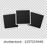 photo frame mockup design.... | Shutterstock .eps vector #1257215440