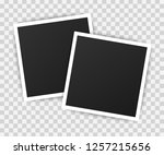 photo frame mockup design.... | Shutterstock .eps vector #1257215656