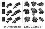 chocolate set. vector | Shutterstock .eps vector #1257223516