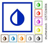 invert colors flat color icons... | Shutterstock .eps vector #1257226006