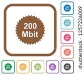 200 mbit guarantee sticker... | Shutterstock .eps vector #1257226009