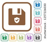 protected file simple icons in... | Shutterstock .eps vector #1257226030