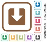 download simple icons in color... | Shutterstock .eps vector #1257226033
