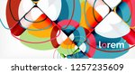 circles and triangles geometric ... | Shutterstock .eps vector #1257235609