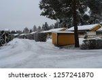 neighborhood streets with road... | Shutterstock . vector #1257241870