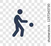 petanque icon. trendy petanque... | Shutterstock .eps vector #1257243730