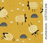 seamless childish pattern with... | Shutterstock .eps vector #1257251146