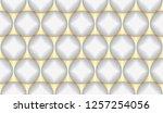 luxury seamless pattern. 3d... | Shutterstock . vector #1257254056