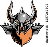the illustration shows a viking ... | Shutterstock .eps vector #1257263806