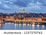 scenic aerial view of gamla... | Shutterstock . vector #1257270763