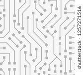 computer circuit board.... | Shutterstock .eps vector #1257271516