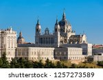 madrid  the almudena cathedral | Shutterstock . vector #1257273589