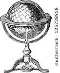 vintage globe | Shutterstock .eps vector #125728928