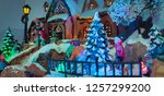 christmas ornament house with... | Shutterstock . vector #1257299200