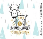 merry christmas. typography.... | Shutterstock .eps vector #1257302026