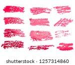 red brush stroke backgrounds ... | Shutterstock .eps vector #1257314860