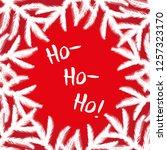 ho ho ho brush lettering.... | Shutterstock .eps vector #1257323170