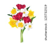 flower bouquet. | Shutterstock .eps vector #125732519