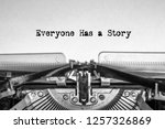 everyone has a story printed on ... | Shutterstock . vector #1257326869