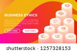 business ethics concept with... | Shutterstock .eps vector #1257328153