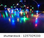 colorful christmas light... | Shutterstock . vector #1257329233