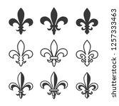fleur de lis icon vector | Shutterstock .eps vector #1257333463